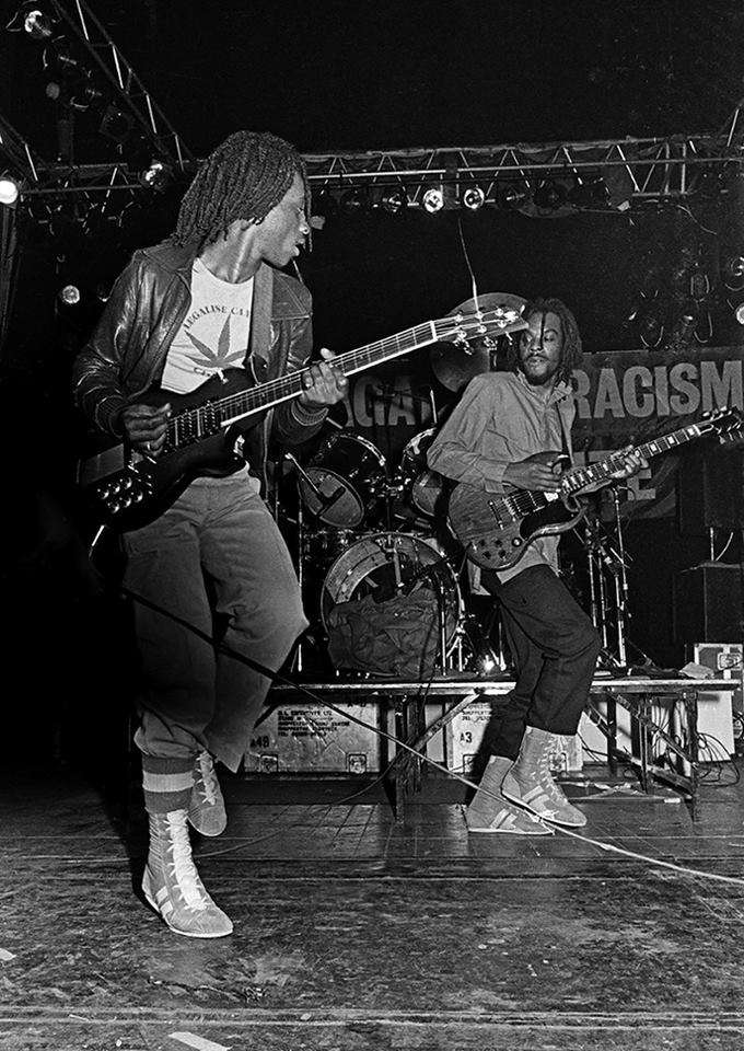 Aswad playing The Southall Kids Are Innocent gig at the Rainbow Theatre, London, 1979
