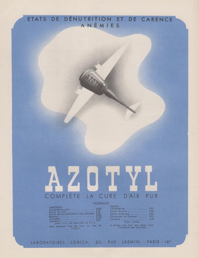 azotyl Pharmaceutical Ads 1930s France