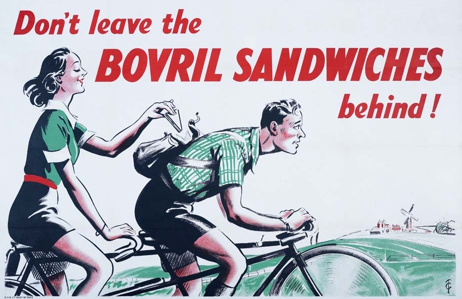 Bovril for Sandwiches, wartime ad from 1940.