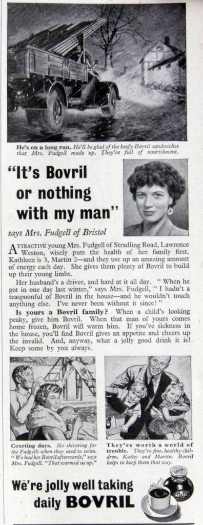 Bovril meat extract 1955