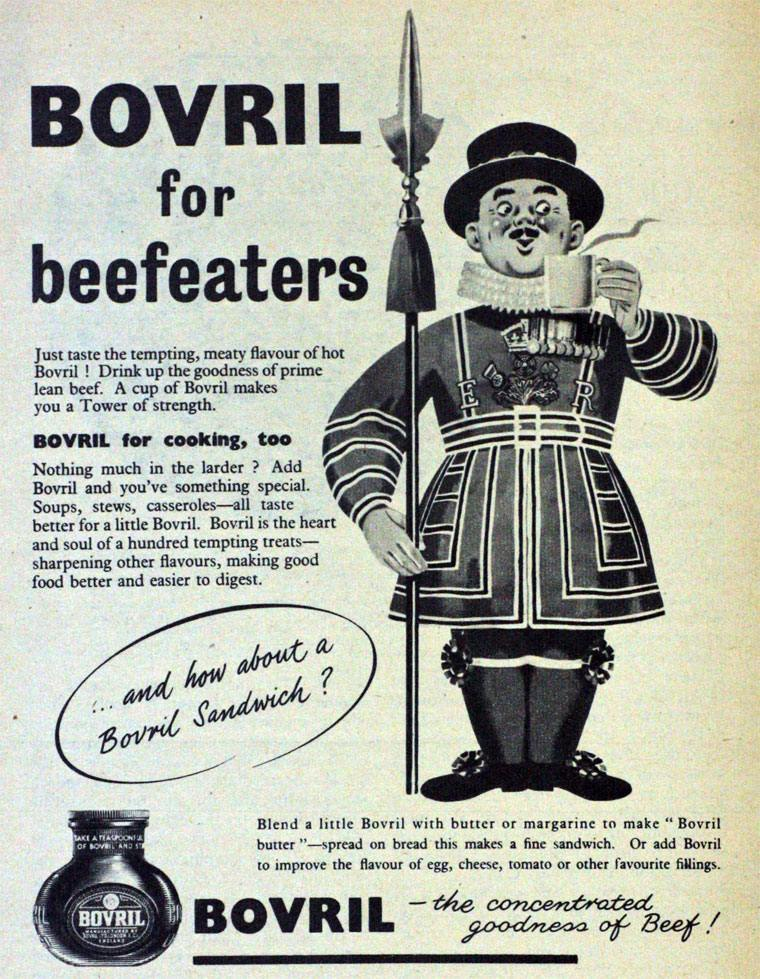 Bovril meat extract 1954