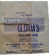 Gloria's Record Bar,British record store bags