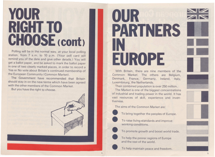 Labour Prime Minister fronted a pamphlet European referendum 1975