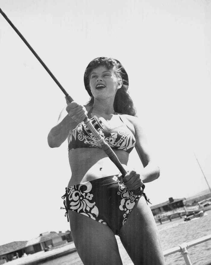 Irish McCalla fishing
