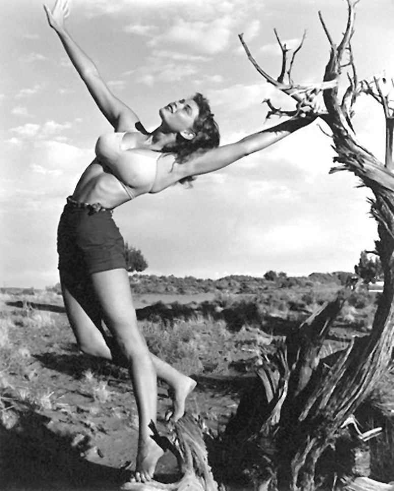 Irish McCalla posing