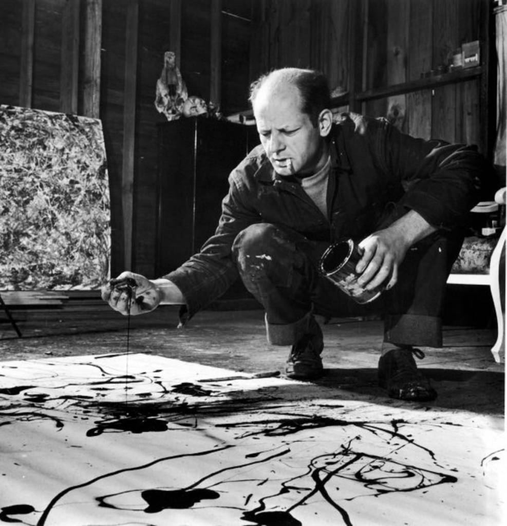 Jackson Pollock letters family painting