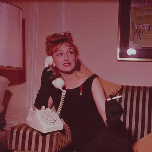 Lydia in her dressing room in Soho