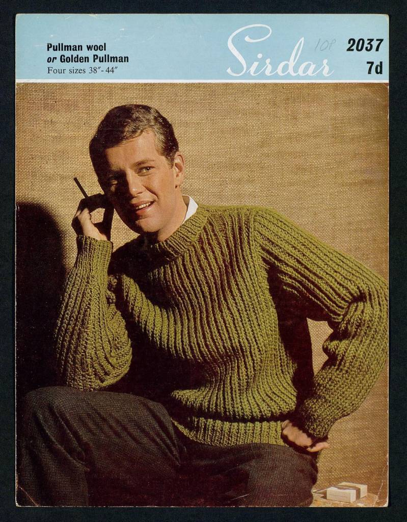 Man's sweater - 4 sizes by Sirdar Published 1960s