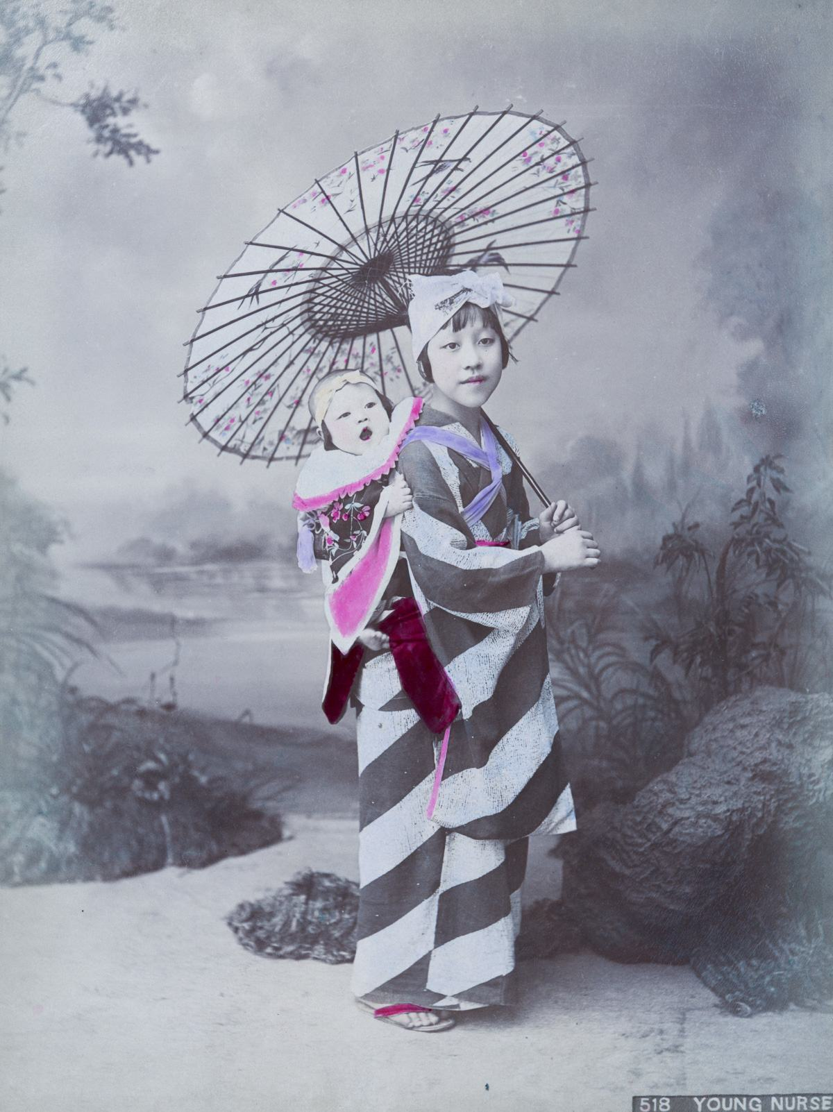 Meiji Japan woman and baby