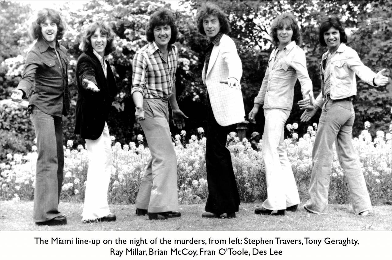 The Miami Showband line up at the time of the massacre in 1975.