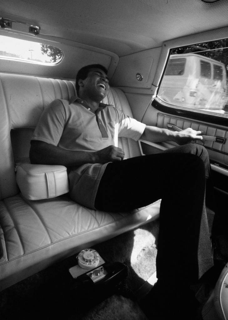 Muhammad Ali in car