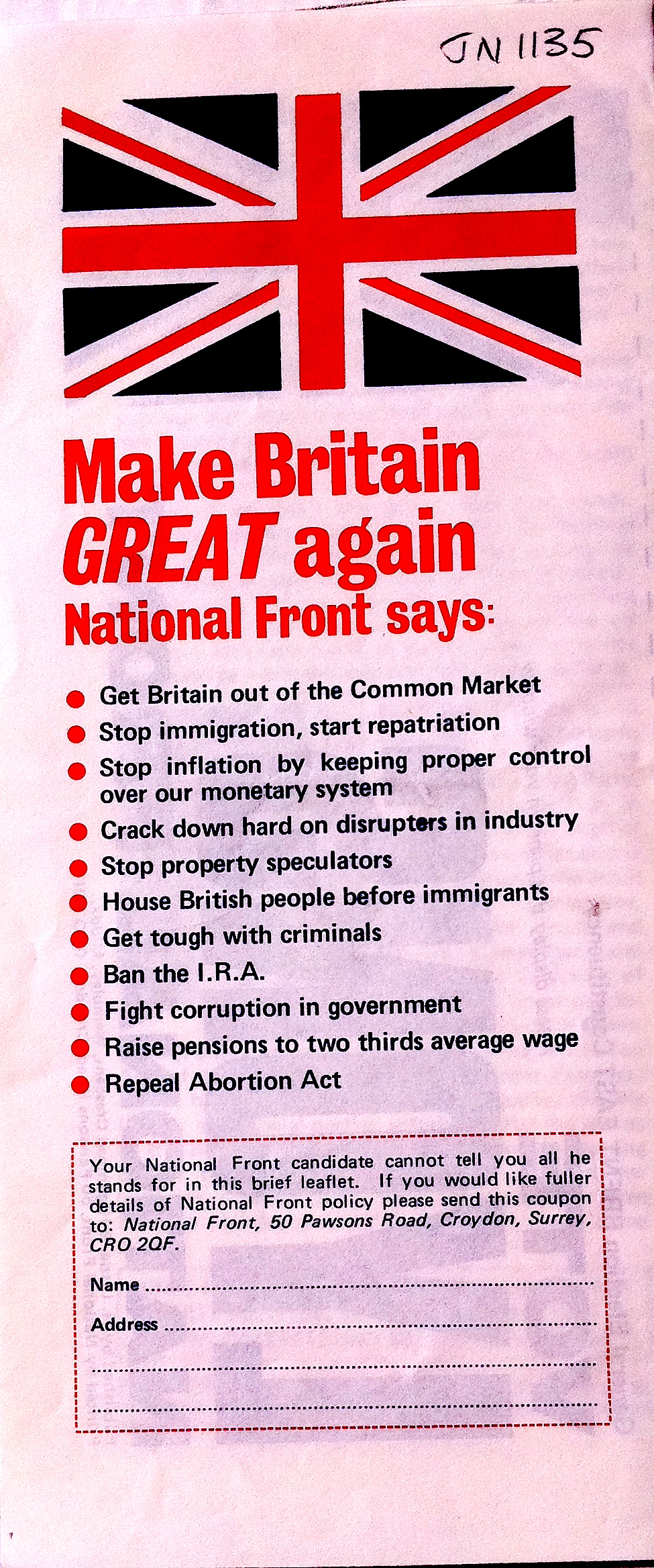 Ephemera From The 1975 European Referendum Flashbak
