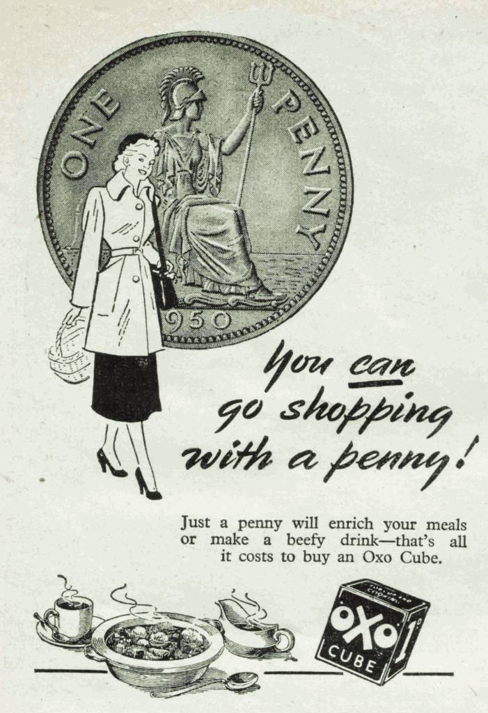 OXO ad from Womens Pictorial magazine - March 31st 1951