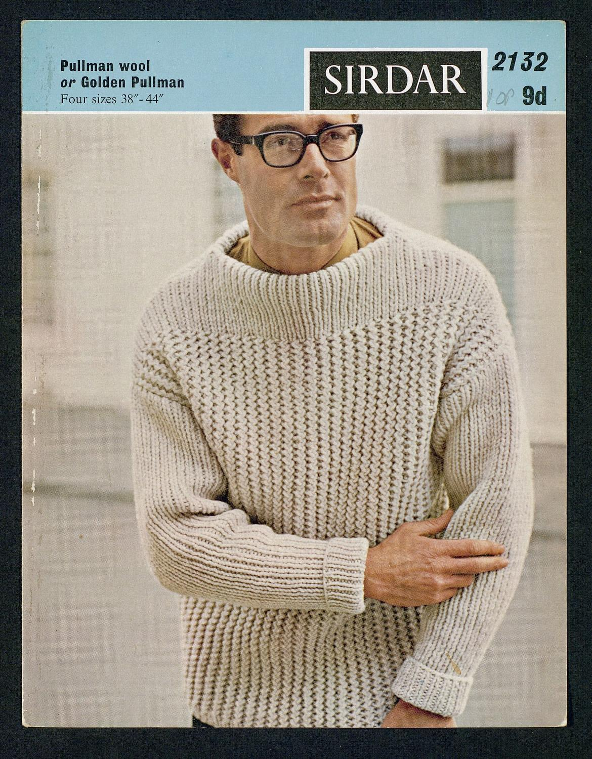 Men on Vintage Knitting Patterns - Flashbak