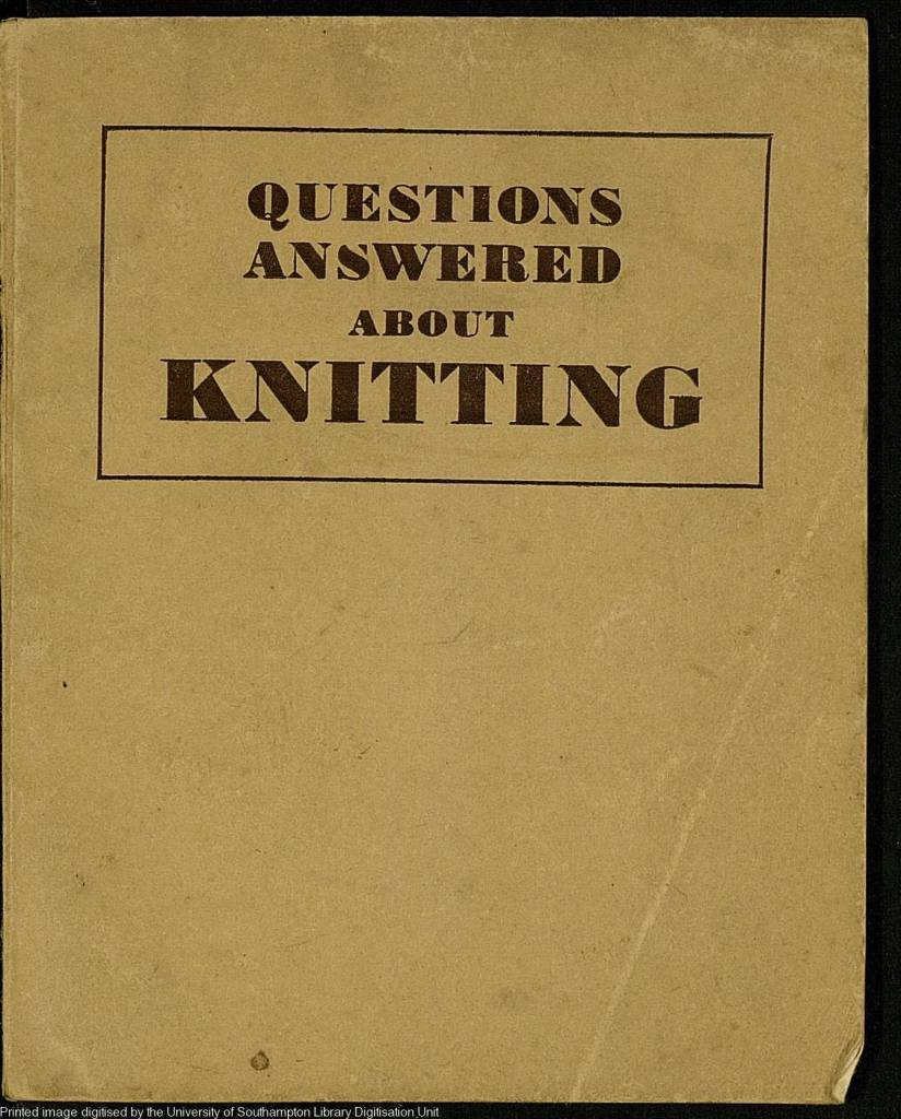 Questions answered about knitting by Bloom, Ursula Published 1946