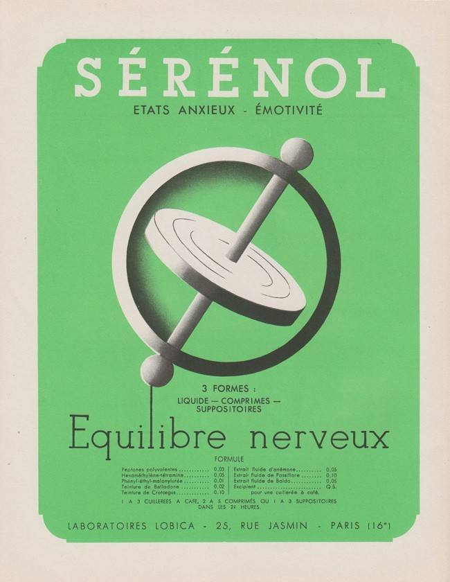 serenol Pharmaceutical Ads 1930s France