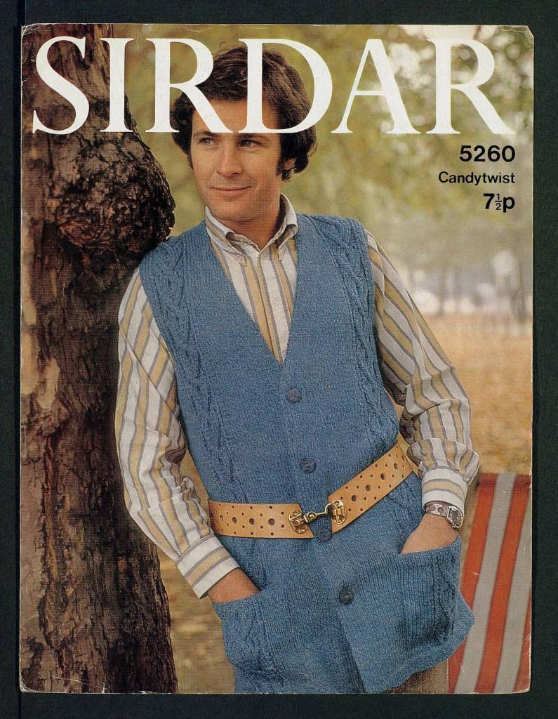 Sleeveless casual [waistcoat] - [in] Candytwist, Sportswool, Studio, 36:40 inch by Sirdar Published 1970s