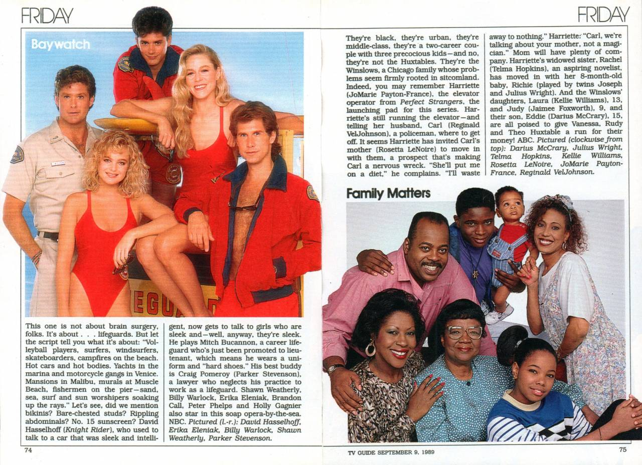 Baywatch TV Guide Fall Preview 1989