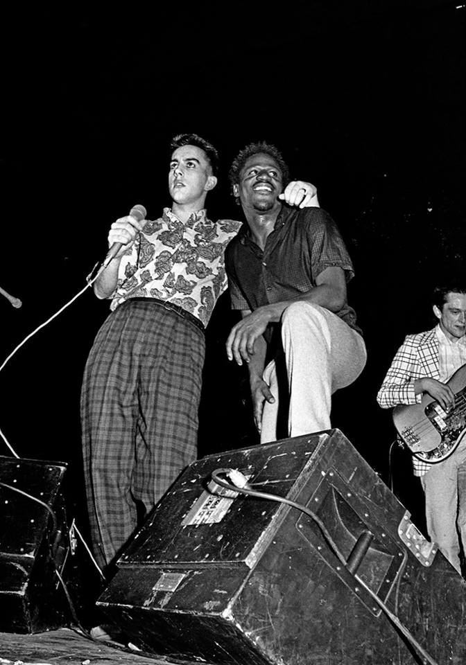 Terry Hall and Neville Staples of The Specials, Rock Against Racism and Anti-Nazi League Carnival, Potternewton Park, Leeds, 1981