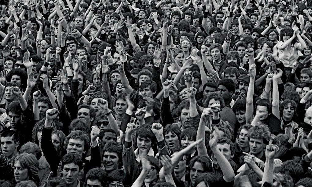 The 100,000-strong crowd at the Rock Against Racism:Anti Nazi League Carnival 1, at London's Victoria Park, 30 April 1978.