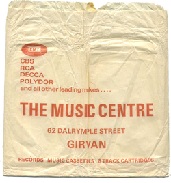 British record store bags The Music Centre Girvan