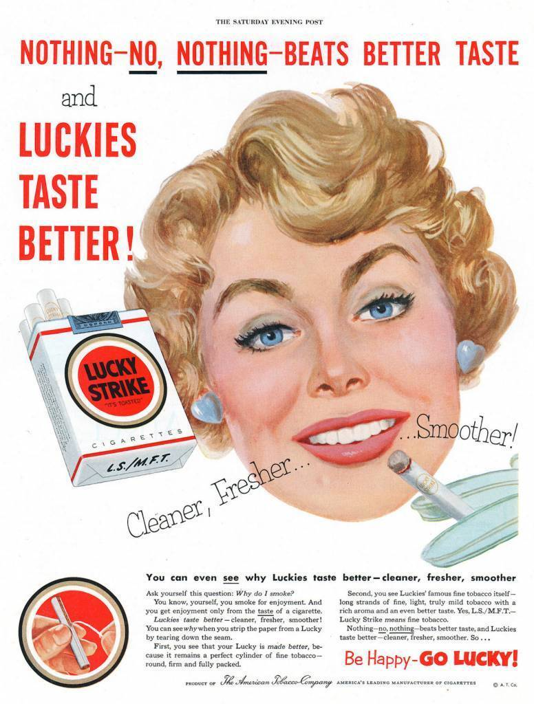 The Saturday Evening Post (Feb 14, 1953) vintage adverts lucky strike
