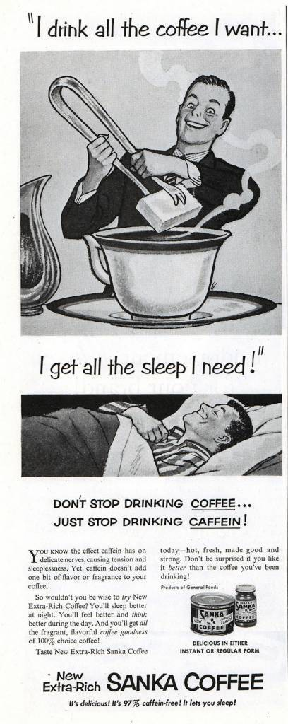 The Saturday Evening Post (Feb 14, 1953) vintage coffee advert