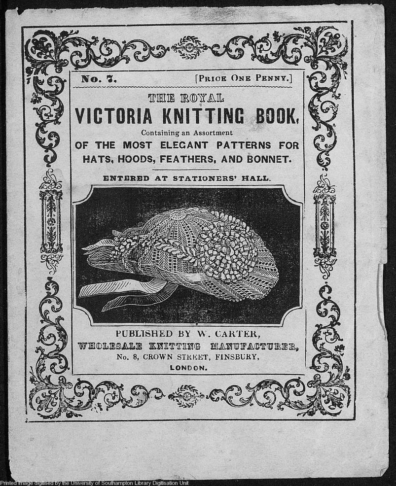 The royal Victoria Knitting book 1870s
