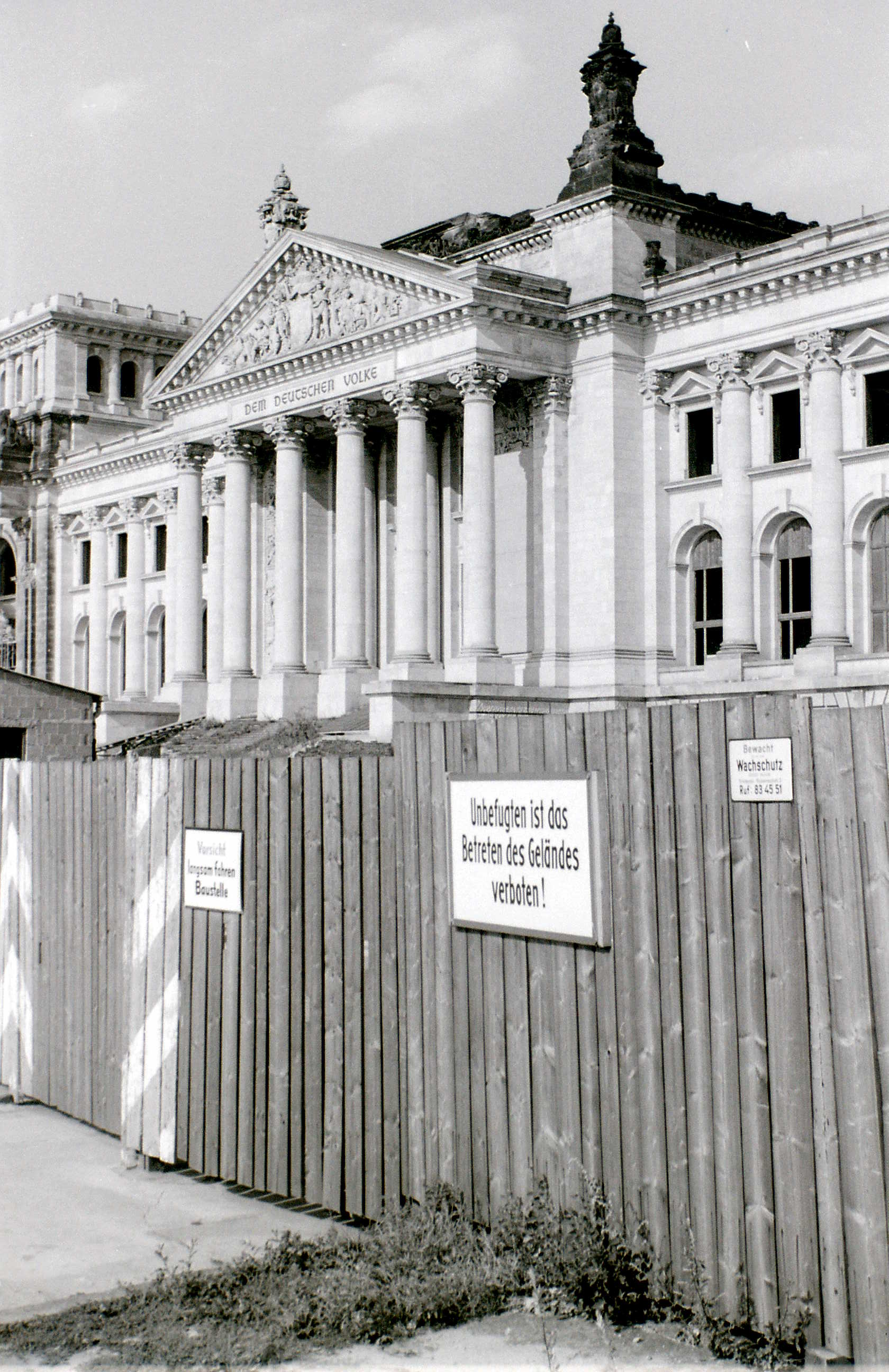 The ruined Reichstag, West Berlin, c. 31 July 1960