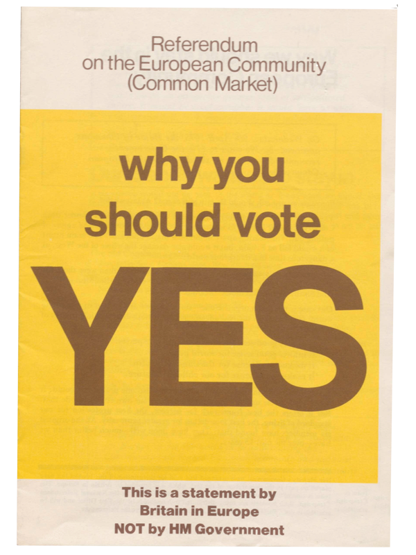 Common market pamphlet vote 1975