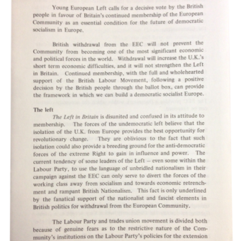 Ephemera From The 1975 European Referendum
