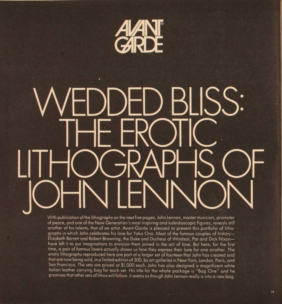 Wedded Bliss: The Erotic Lithographs of John Lennon