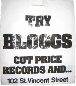 bloggs records glasgow,British record store bags