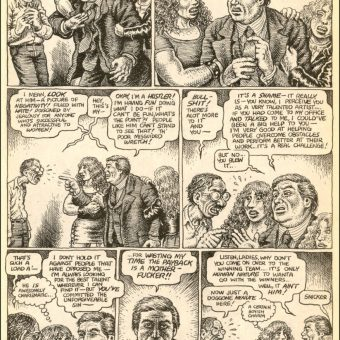 Robert Crumb Flushes 'Evil' Donald Trump Down The Toilet In This 1989 Comic (NSFW)