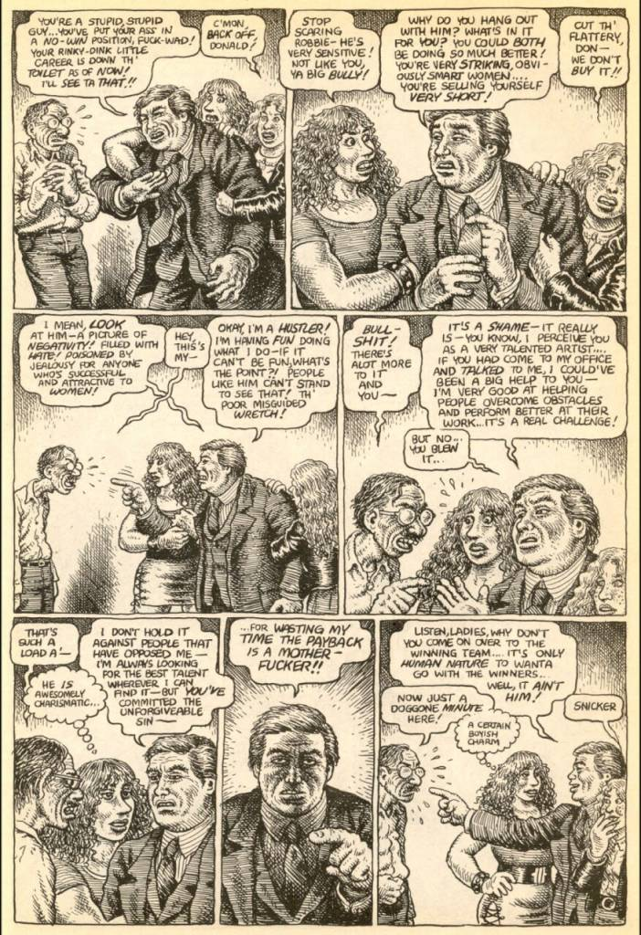 R Crumb Donald Trump point the fingers 1989