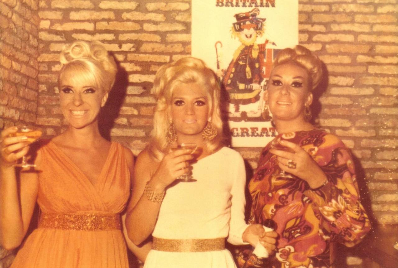 My 3 drinking buddies Brenda, Diane and Fay. May 8 1969