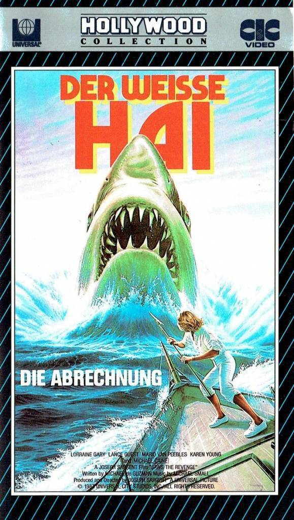 Jaws german vhs covers 1980s der weisse hai