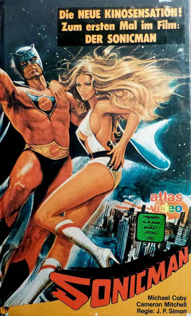 sonicman german vhs covers 1980s hero