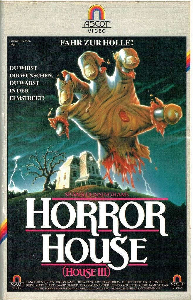 german vhs covers 1980s horror house
