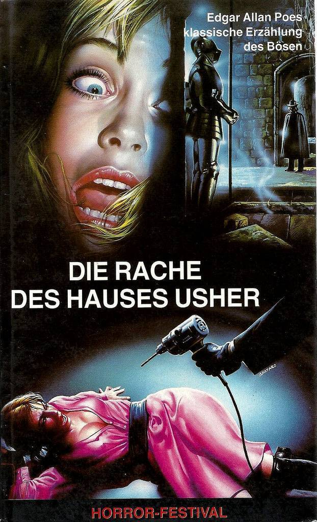 German VHS covers 1980s Poe horror