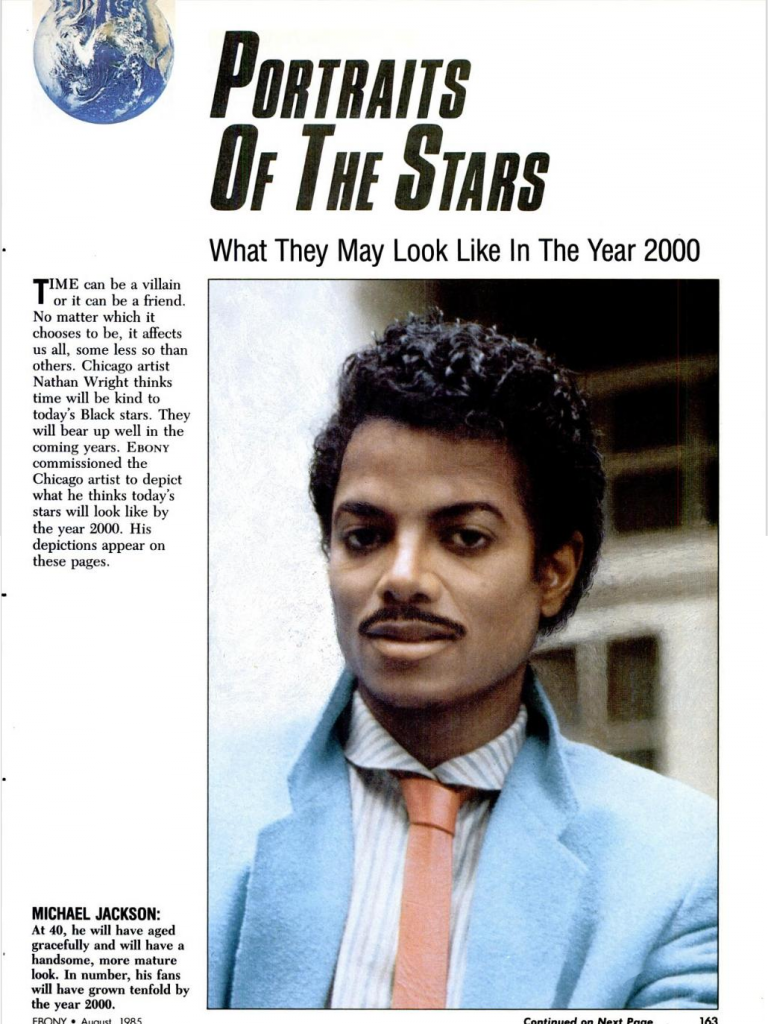 1985 Ebony Magazine Shows What Michael Jackson Will Look Like In 2000