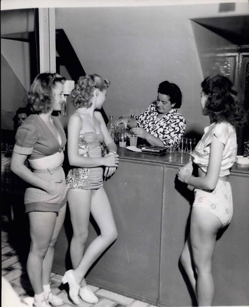 Mandatory Credit: Photo by Keystone Pictures USA/REX/Shutterstock (5621951n) 1955 - In the Windmill Canteen. One of the most popular members of the Windmill Theatre staff is ''Margaret'' who, for nine years has presided over the Canteen. Various