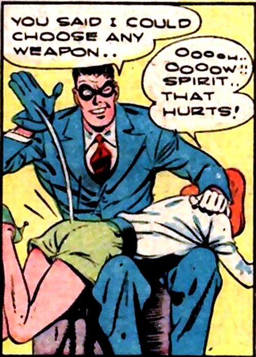 Spirit No. 42 comic book spanking