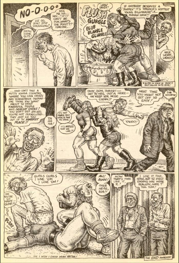 R Crumb Donald Trump point the fingers 1989 point the finger