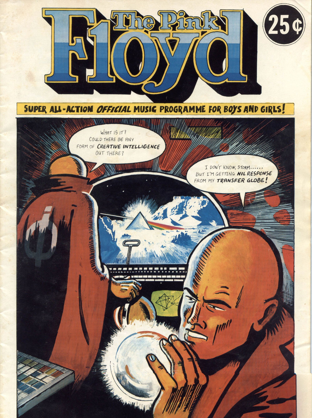 In Full Pink Floyd S Dark Side Of The Moon Comic Book Programme