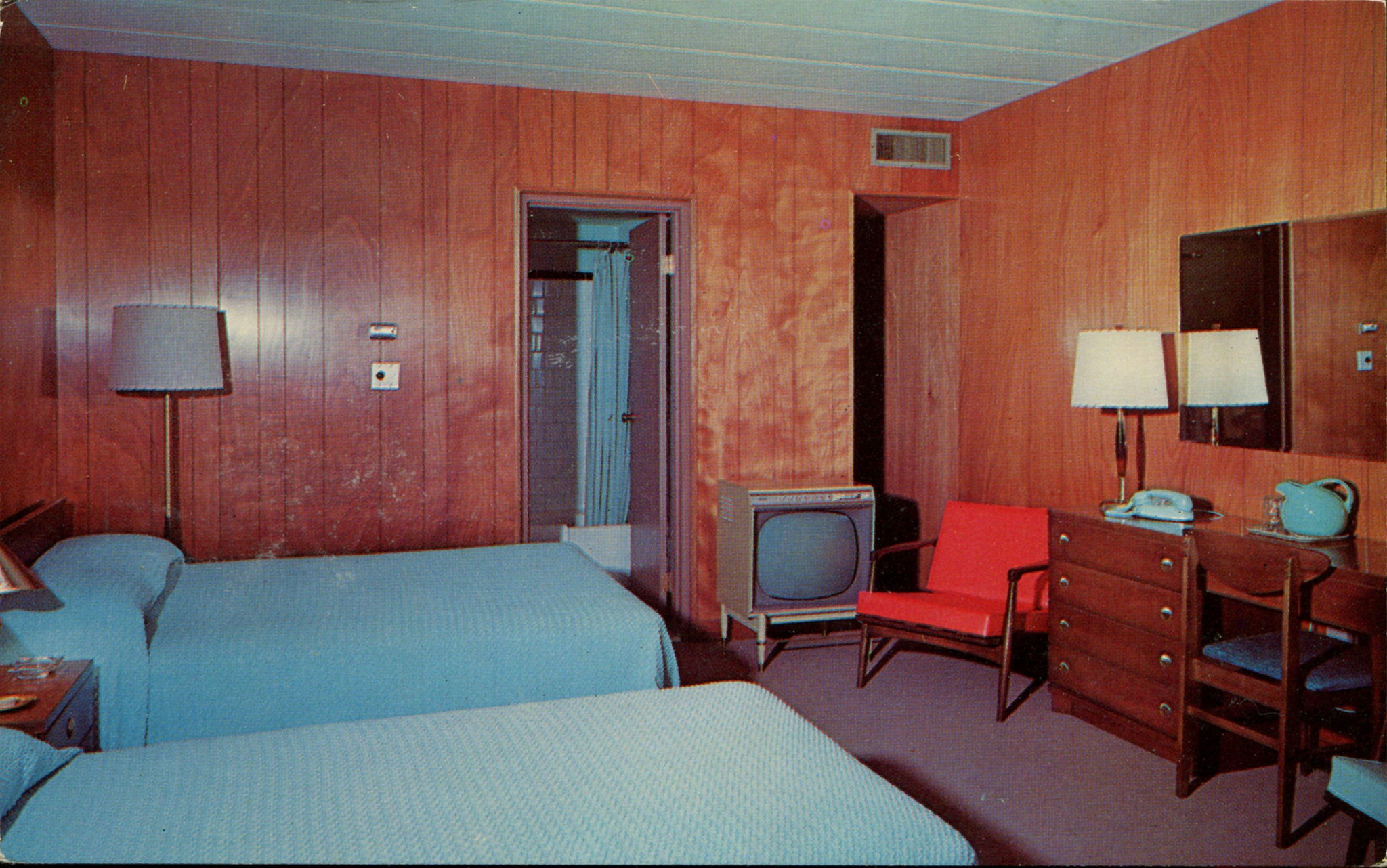 Postcards Of Mid Century Motel Rooms With Style Flashbak