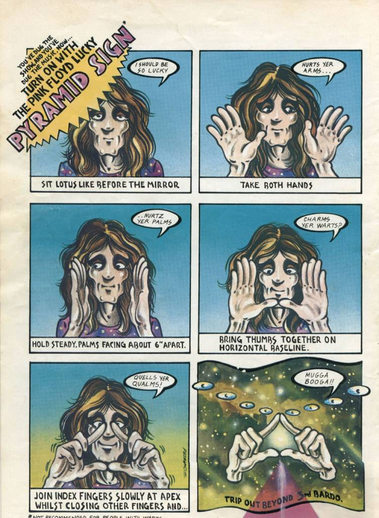 PINK FLOYD'S 'DARK SIDE OF THE MOON' COMIC BOOK TOUR PROGRAM 1975