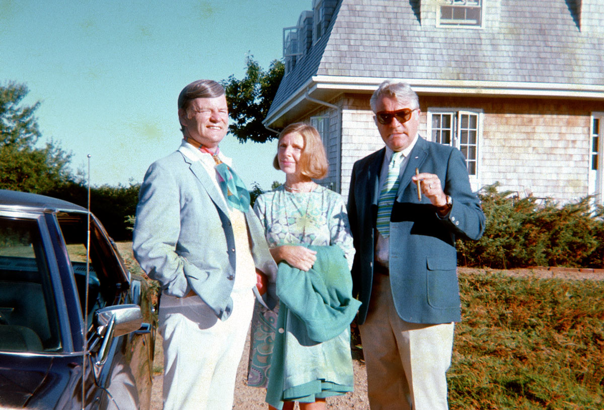 Kids of today, I present the Ascot Larry really looks continental in his ascot with his friend and friend's wife. Anyone know what happened to the guy on the right? I mean you seldom see this type anymore. Developer, wheeler-dealer, Man-About-Town. The Aqua-Velva man. Super short colorful neck-tie. Foster Grants.