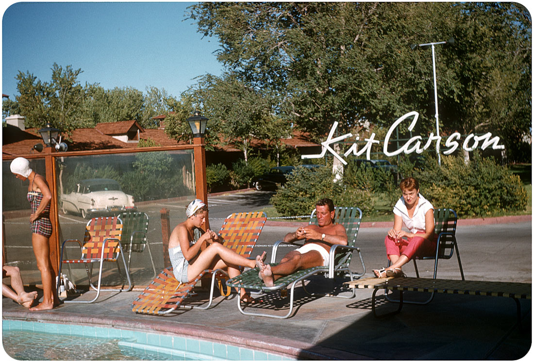 Poolside at Kit Carson Motel, Las Vegas - 1956