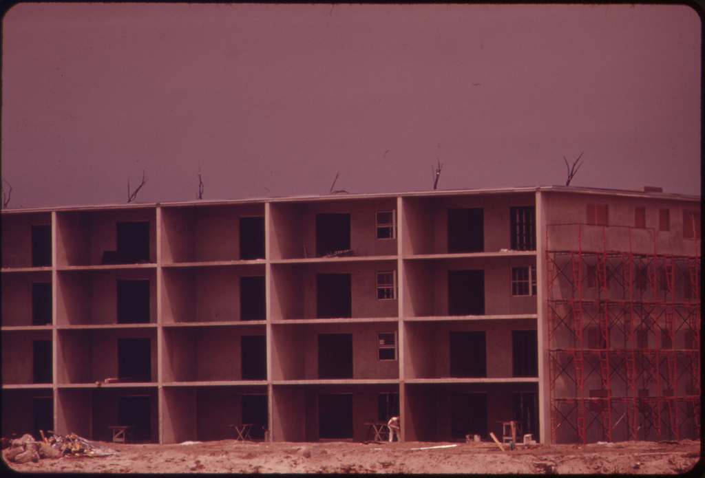 Apartment Under Construction at Century Village Retirement Community. The Entire Complex of 7,838 Units (Individually-Owned Condominiums) Is Due to Be Completed in the Spring of 1974.